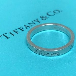 🔴Authentic TIFFANY & CO I LOVE YOU Ring ❤️❤️